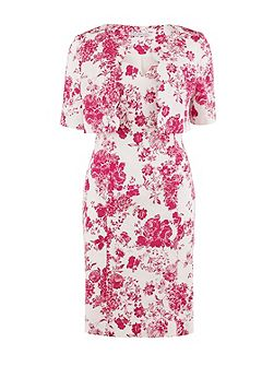 Pink floral stretch cotton dress jacket