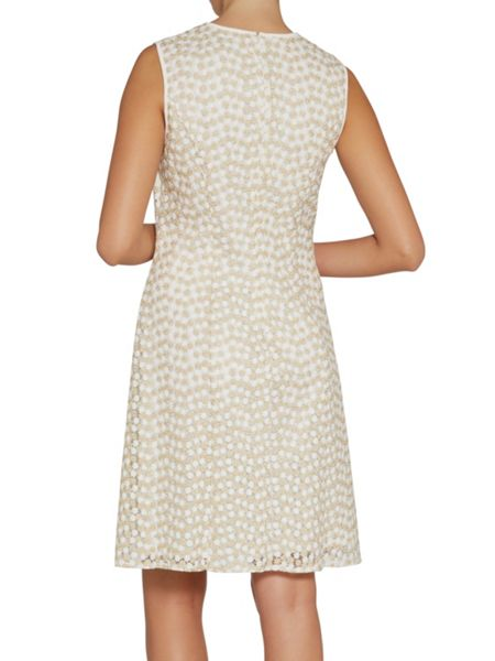 Gina Bacconi A-line flower embroidered dress