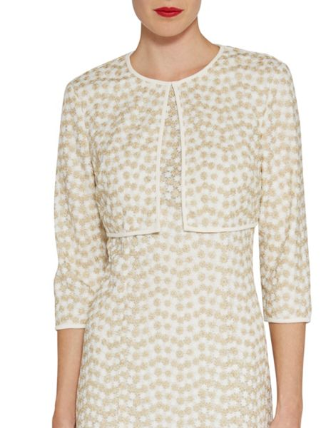 Gina Bacconi Flower embroidered jacket