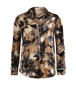 Watercolour flower print shirt