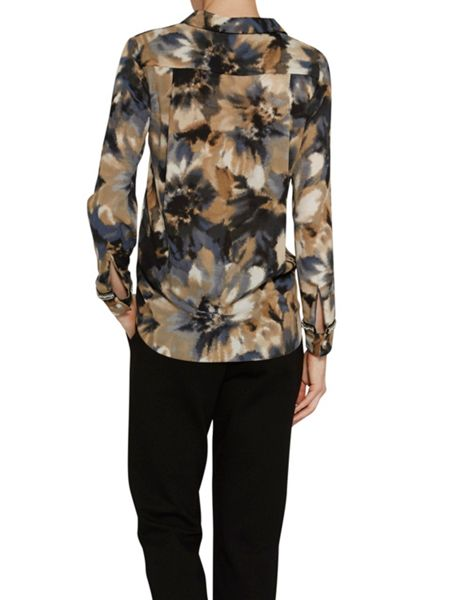 Gina Bacconi Watercolour flower print shirt