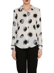 Gina Bacconi Spotted blouse