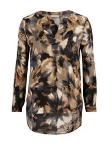 Gina Bacconi Water colour flower print kaftan