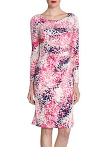 Gina Bacconi Abstract multi pink print jersey