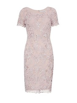 Embroidered Oriental Floral Dress