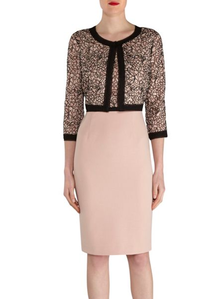 Gina Bacconi Dainty embroidered lace dress and jacket