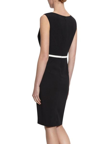 Gina Bacconi Stretch crepe dress with contrast panels