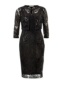 Baroque Sequin Dress And Jacket