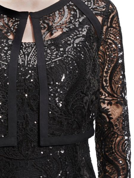 Gina Bacconi Baroque Sequin Dress And Jacket