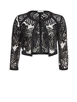 Baroque Sequin Mesh Jacket