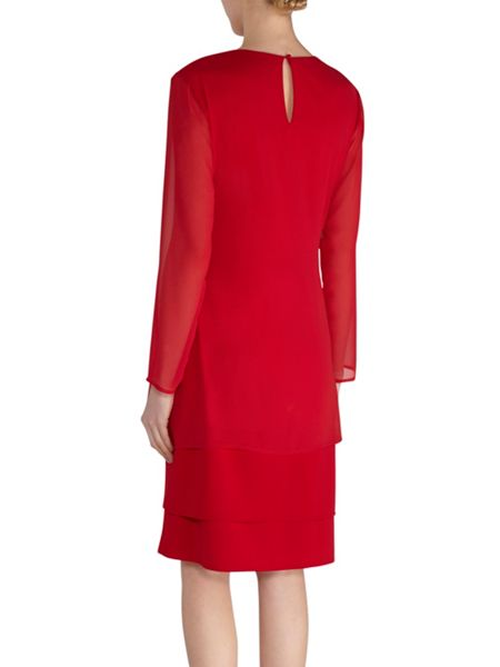 Gina Bacconi Chiffon dress and coat with gold band