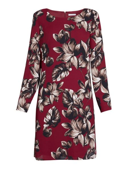Gina Bacconi Etched Floral Crepe Georgette Dress