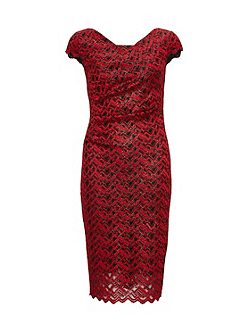 Zig Zag Sparkle Lace Dress