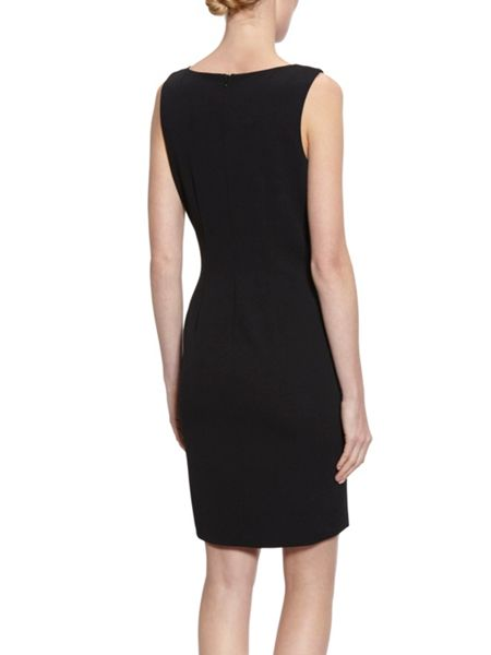 Gina Bacconi Dress With Diagonal Beaded Front