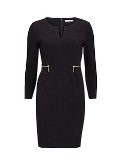 Dior Crepe Knit Dress With Zip Trims