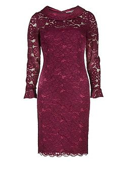 Dainty corded rose lace dress