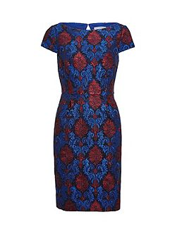 Corded Embroidery Lace Shift Dress
