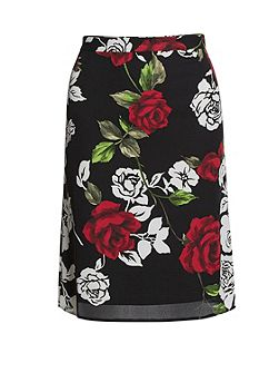 Rose Modern Crepe Georgette Skirt