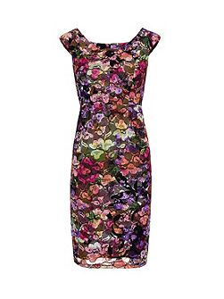 Stained Glass Stretch Lace Dress