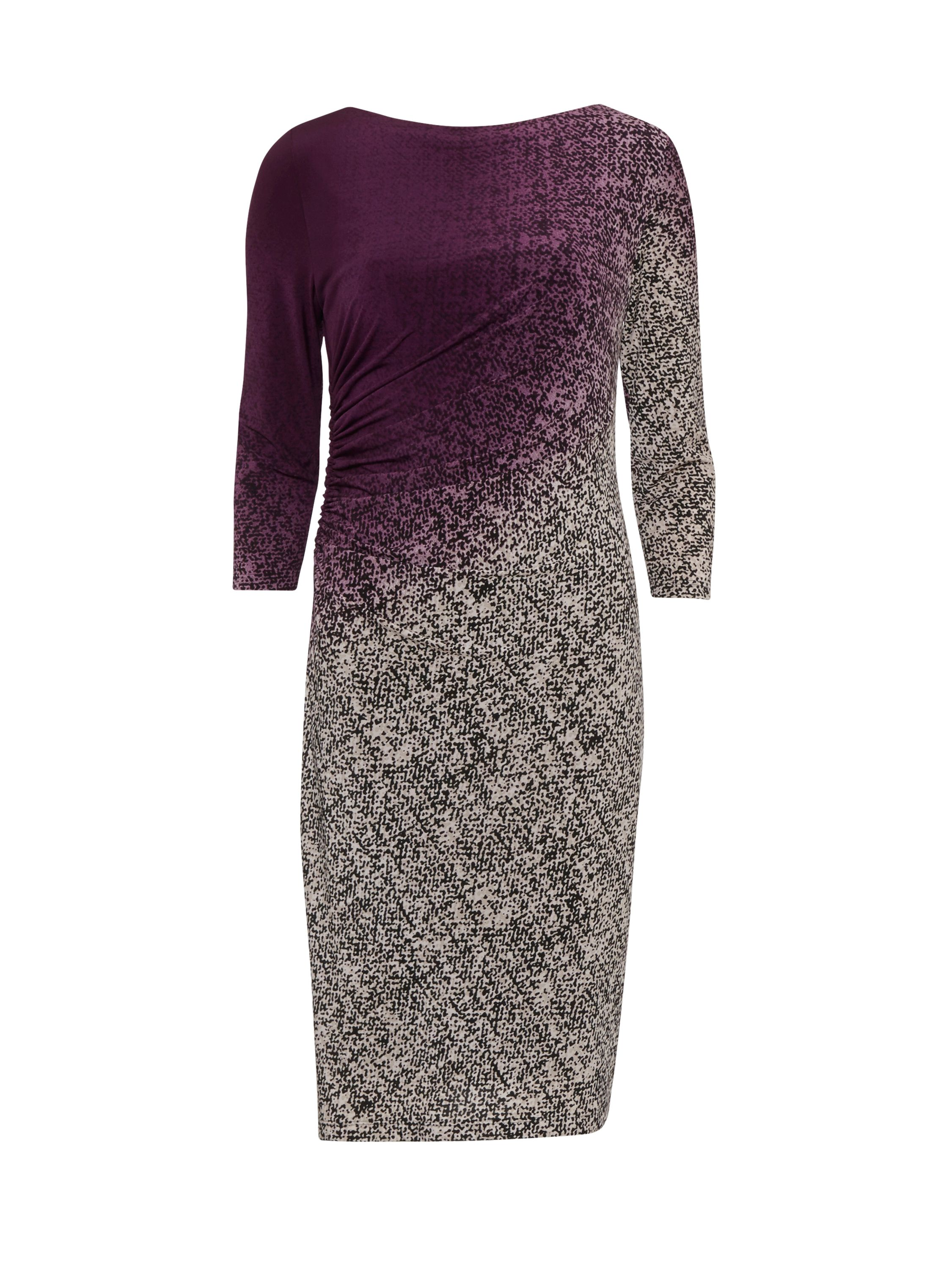 Gina Bacconi Ombre Autumn Jersey Dress, Purple