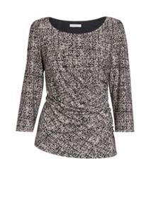 Gina Bacconi Black/cream autumn jersey top