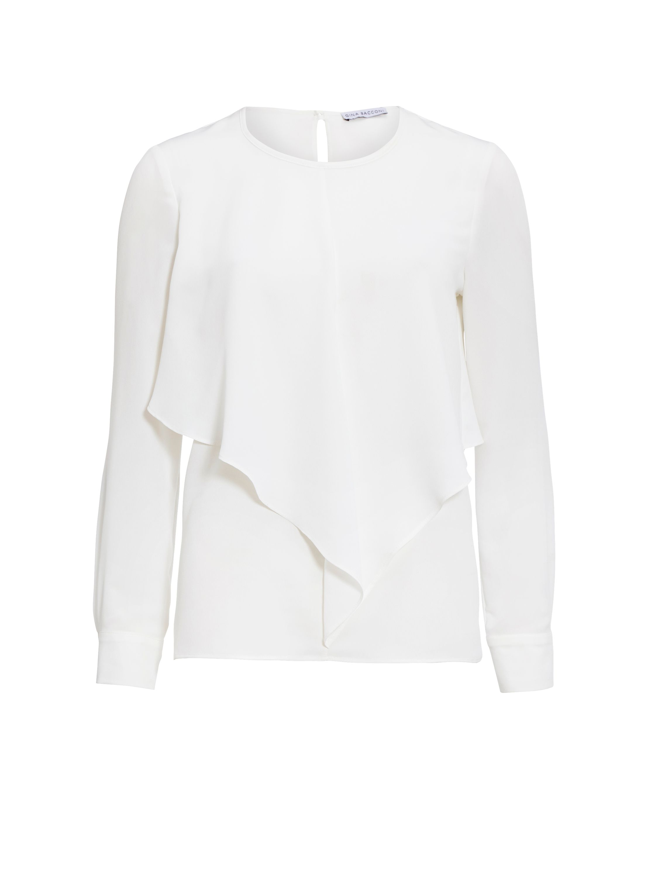 Gina Bacconi Crocodile textured lightweight blouse, Cream