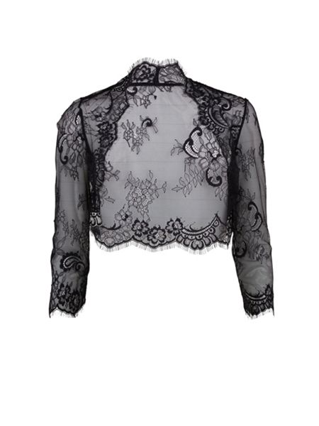 Gina Bacconi Scalloped Lace Bolero