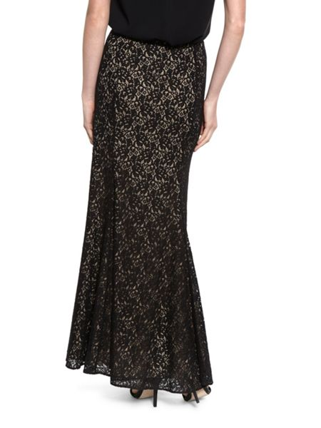 Gina Bacconi Lace Fishtail Maxi Skirt