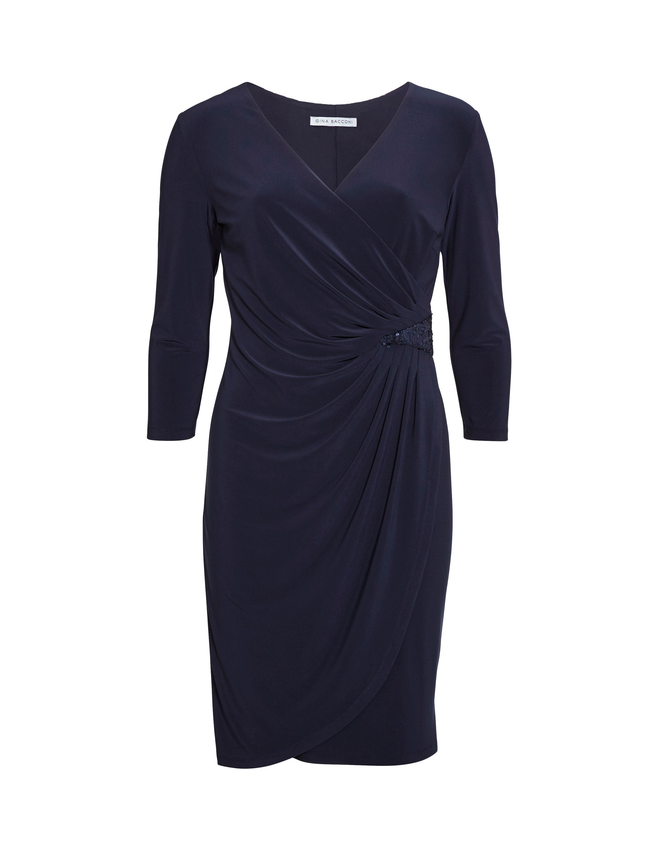 Gina Bacconi Ps Jersey Dress With Sequin Insert, Blue