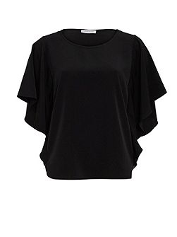 Soho Crepe Top With Sequin Side Panels