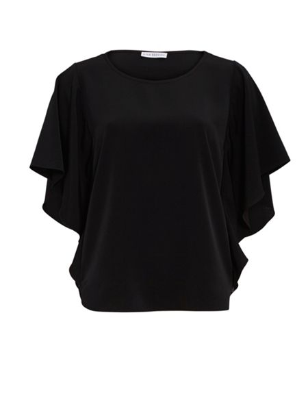 Gina Bacconi Soho Crepe Top With Sequin Side Panels
