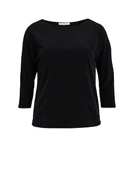 Soho crepe top with seam detail
