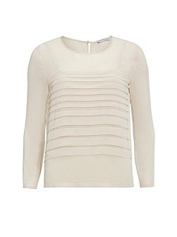 Chiffon top with pleated front