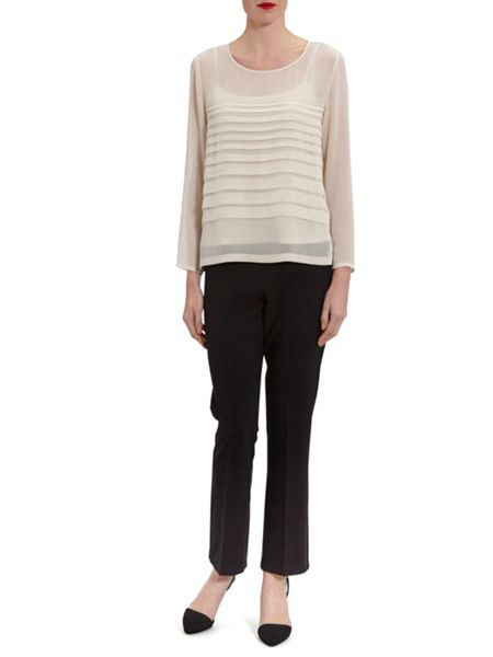 Gina Bacconi Chiffon top with pleated front