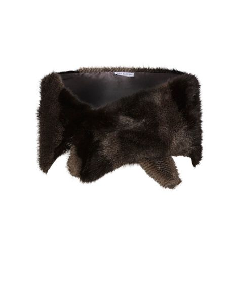 Gina Bacconi Subtle Stripe Fur Slot Through Scarf