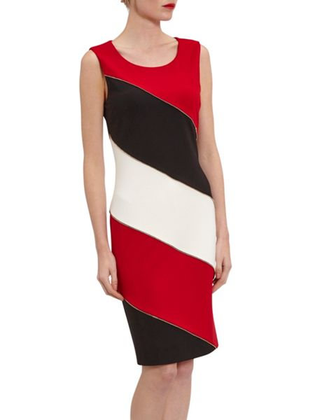 Gina Bacconi Ponti colour block dress