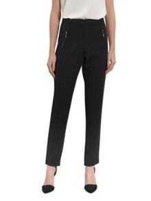 Gina Bacconi Moss crepe trouser with zip detail