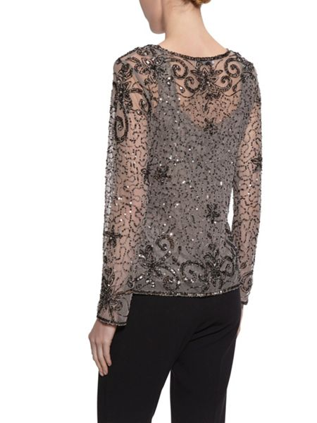 Gina Bacconi Bead and sequin unlined jacket