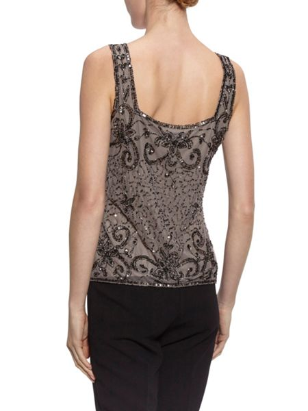 Gina Bacconi Bead and sequin cami