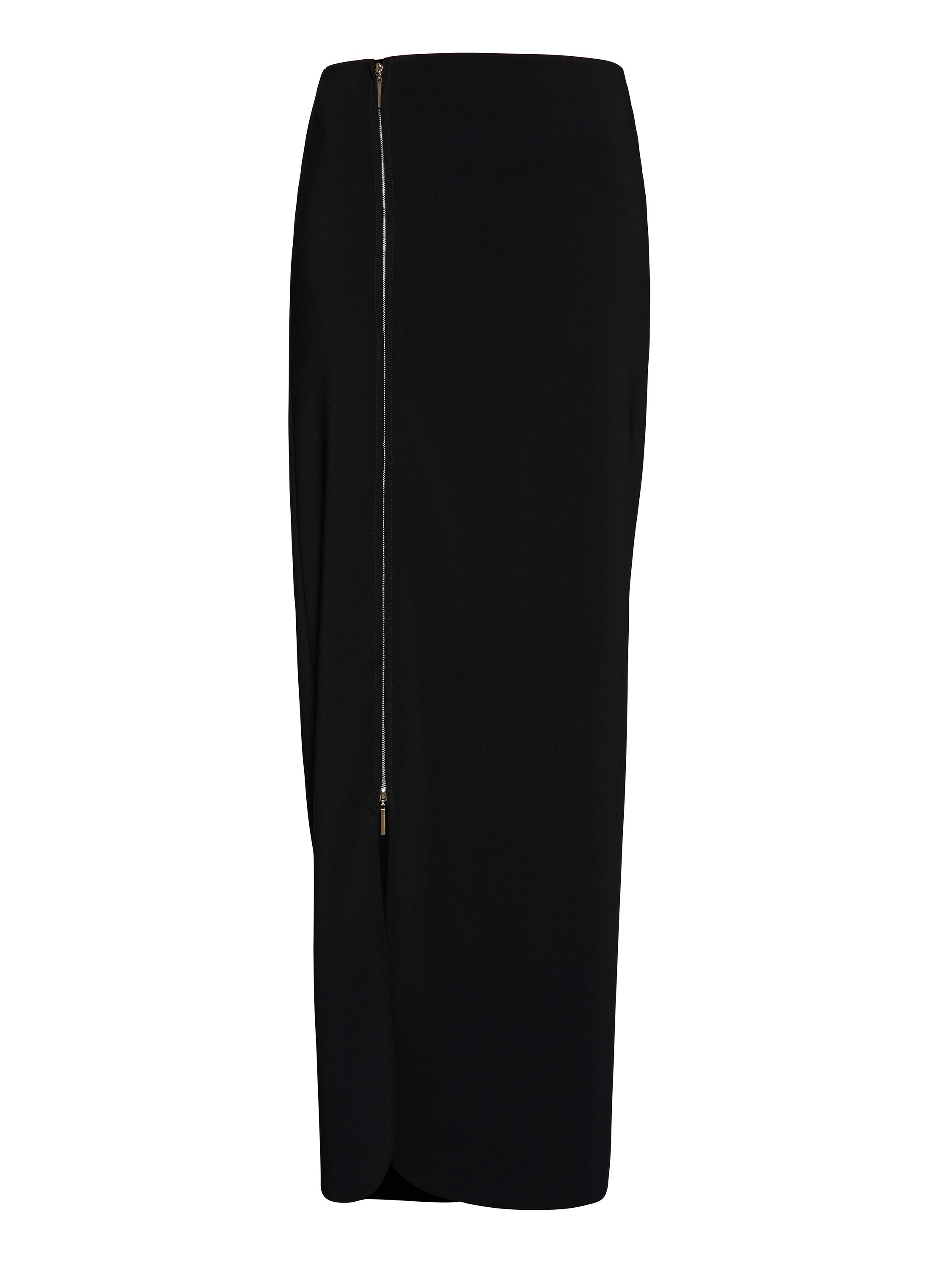 Gina Bacconi Statement zip maxi skirt, Black