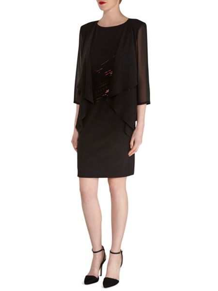 Gina Bacconi Chiffon Waterfall Jacket