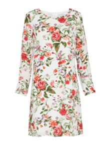 Gina Bacconi Summer garden chiffon long sleeve dress
