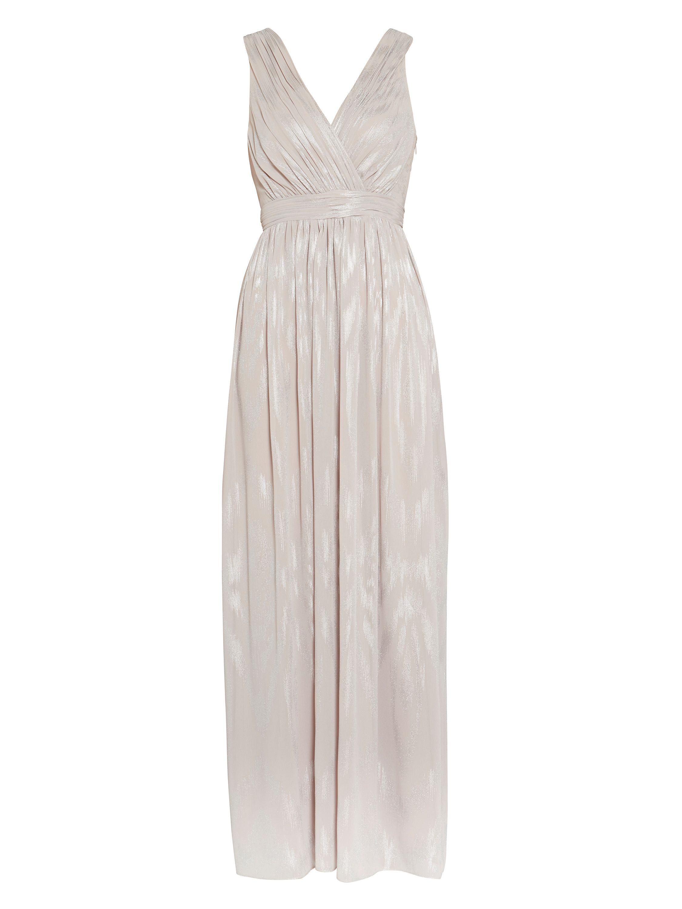 Gina Bacconi Twinkle chiffon maxi dress, White