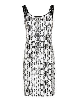 Mono tone sequin dress