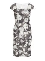 Gina Bacconi 3d floral printed lace layered dress