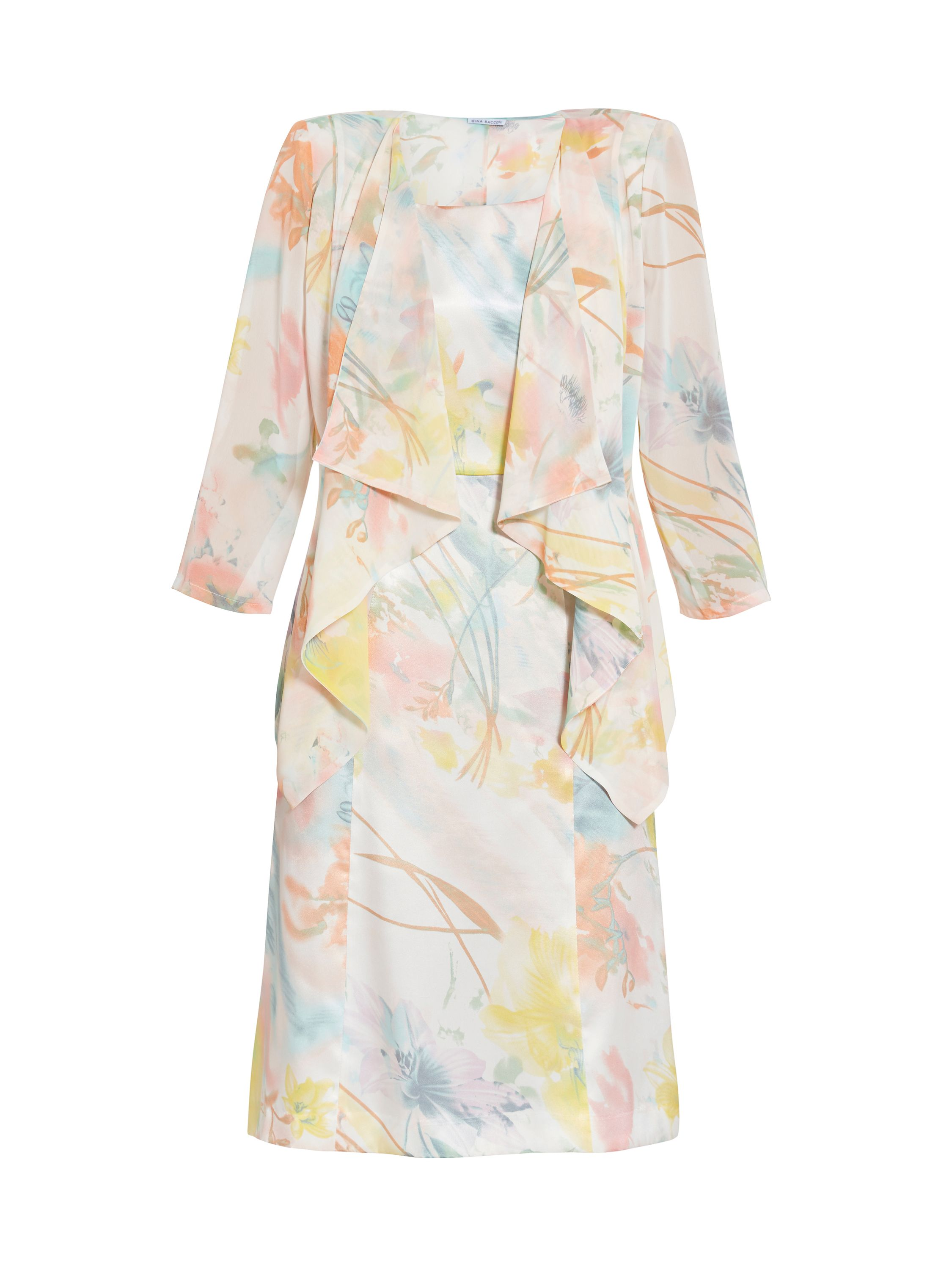 Gina Bacconi Floral print dress and jacket, Multi-Coloured
