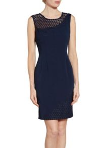 Gina Bacconi Crepe and doily chemical lace dress