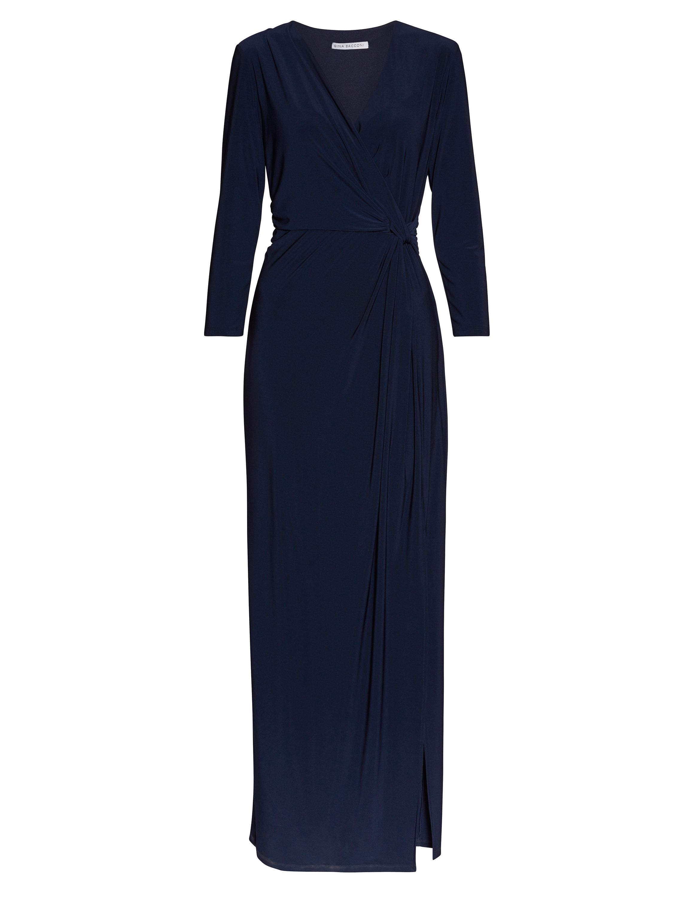 Gina Bacconi Ps jersey maxi dress, Blue