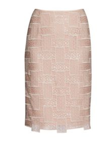 Gina Bacconi Mosaic sequin embroidery skirt