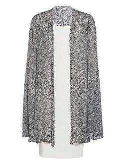 Itsy chiffon cape and crepe dress